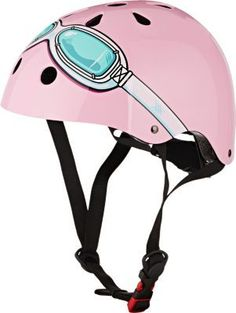 We Adore: The Pink Goggle Helmet from Kiddimoto at Barneys New York Best Kids Bike, Pink Helmet, Safety Helmet, Dollhouse Accessories, Toddler Fun, Pink Turquoise, Roller Skating, Baby Design, Barneys New York