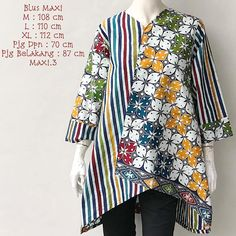 Gambar mungkin berisi: orang berdiri Kebaya Dress, Batik Kebaya, Batik Fashion, Diy Fashion, Womens Fashion, Blouse Batik, Batik Dress, Big Size Dress, Lawn Suits