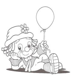 Patati/ Patata Baby Coloring Pages, Adult Coloring Book Pages, Cartoon Coloring Pages, Christmas Coloring Pages, Coloring Books, Charm Pack Quilt Patterns, Applique Patterns, Clown Cirque, Clown Crafts