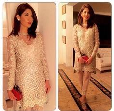 Pakistani ensemble. Amna Babar. So classy, elegant and sophisticated.