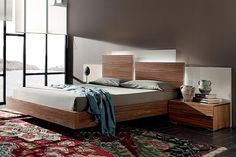 Rubik Modern Platform Bed with LED Lights by Mobenia