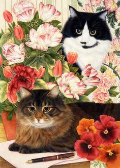 I ❤ colorful kitties . . . Art of Ann Mortimer