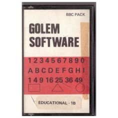Educational 1B for BBC Micro from Golem Software