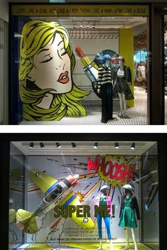 Comic books come to life #storewindow #visualmerchandising