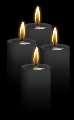 4 Black Candles:Burning black with any other color disolves negative energies!  Protection, hex-breaking, reversing, banishing, destroying evil or negativity, binding, and repelling. Also used for healing very powerful illnesses.