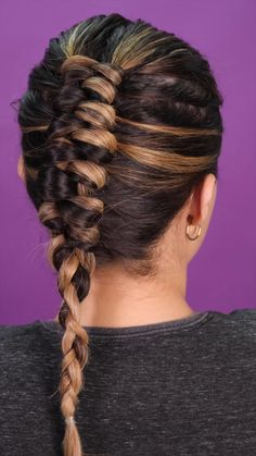 Summer Hairstyles, Braided Hairstyles, Cool Hairstyles, Hair Up Styles, Medium Hair Styles, Brown Blonde Hair, Creative Hairstyles, Grunge Hair, Hair Videos