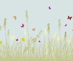 Livingwalls XXL-Tapete Green flower meadow (XXL) 036884 günstig