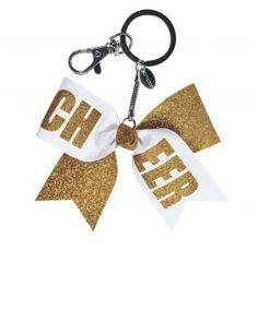 How to make a mini cheer bow keychain tutorial diy cheer gifts chass mini cheer bow keychain solutioingenieria Choice Image