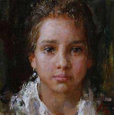 "Artist Nikolai Blokhin Николай Блохин , from St Petersburg (b. 1968)  from his Gallery ""Children's Portrait"""