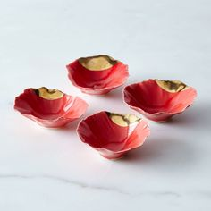 Gold-Dipped Red Pinch Bowls on Food52