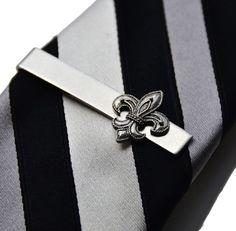 Fashion Men Musical Note Tie Clip Silver Business Tie Statement Decor Jewelry CA