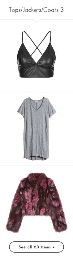 """Tops/Jackets/Coats 3"" by amythystrose ❤ liked on Polyvore featuring tops, crop tops, shirts, bralette, bralets, dresses, robes, grey, plus size and plus size grey dress"