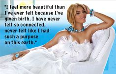 #Quotes: #Beyonce, who was named People Magazine's Most Beautiful Woman for 2012, says becoming a mom has given her life new meaning.