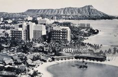C 1960 Photograph Hawaii Oahu View Overlooking Waikiki Diamond ...