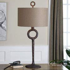 """Ferro 34.75"""" H Table Lamp with Drum Shade"""