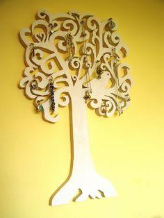 Jewelry tree using scroll saw