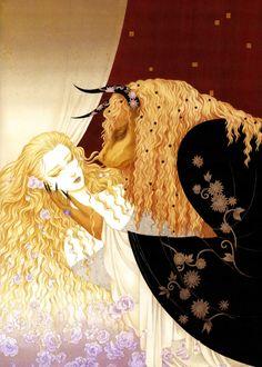 Esta ilustracion es bellisima! a alguien no le gusta?/ Toshiaki Kato - Beauty and the Beast