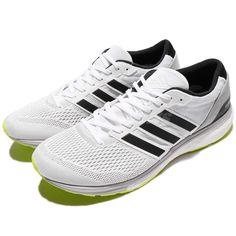 look for c21f4 78eca adidas Adizero Boston 6 M White Black Green BOOST Men Running Shoes CG3142