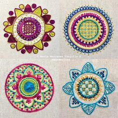 MagaMerlina - Four Embroidered Mandalas