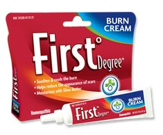 Keep First°Degree Burn Cream by Welmedix in Your First Aid Kit