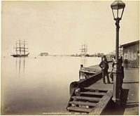 Horse Shoe Wharf, Newcastle, 1892