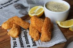 Almond Crusted Fish Sticks & Tartar Sauce
