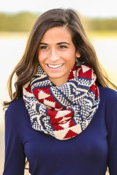 Hello Gorgeous! Must have, print infinity scarf! Love, love, love! Cozy yet fashionable!