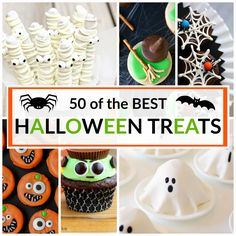 50 of the BEST Halloween Treats that will make this Halloween SPOOKTACULAR! Day #2 of Halloween Week on the blog and of course I had to celebrate with {my selection} of the BEST Halloween Treats out there. If you missed Day #1 Best Ever Monster Cookies  you need to see it. Or if you need some …