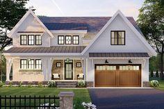 Modern Farmhouse Plans, Farmhouse Design, Farmhouse Style, Best House Plans, Four Bedroom House Plans, Build Your Dream Home, Walk In Pantry, New Homes, 1