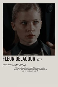 minimalist character polaroid fleur delacour poster (2005) - fleur delacour, clémence poésy, beauxbatons, 1977 Harry Potter Girl, Harry Potter Characters, Harry Potter Hogwarts, Fleur Delacour, Clemence Poesy, Draco, Harry Potter Movie Posters, Imprimibles Harry Potter, Harry Potter Aesthetic