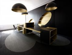 Black and Gold Office from i29 Architects
