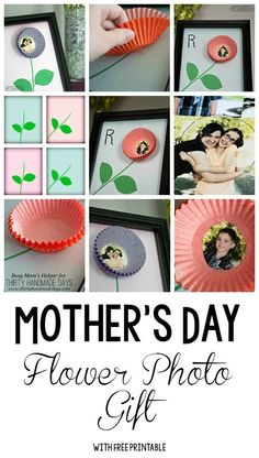 What a cute Mother's Day gift idea! A craft the kids can do for mom this Mother's Day. #mothersday #kidcraft