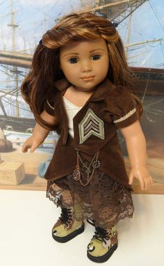 Tour of Duty - Skirt Set for American Girl. ---RESERVED---