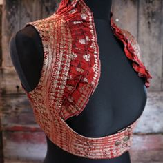 Your place to buy and sell all things handmade Stylish Blouse Design, Fancy Blouse Designs, Saree Blouse Designs, Blouse Styles, Steampunk, Designer Blouse Patterns, Estilo Boho, Sari, Indian Designer Wear