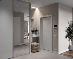 Loft Interior Design, Home Room Design, Home Interior, House Design, Mirrored Wardrobe Doors, Glass Closet Doors, Paint Colors For Living Room, Living Room Decor, Bedroom Decor