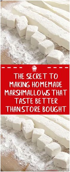 The Secret to Making Homemade Marshmallows That Ta. - The Secret to Making Homemade Marshmallows That Ta. Recipes With Marshmallows, Homemade Marshmallows, Homemade Candies, Making Marshmallows, Homemade Sweets, Homeade Candy, Homeade Desserts, Homemade Candy Recipes, Marshmallow Recipes