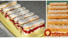 Rúru nechajte odpočinúť, toto máte hotové za 15 minút: Falošné parížske rožky s mascarpone krémom – ak máte doma dlhé piškóty, toto určite skúste, fantázia! Vanilla Cake, Cheesecake, Desserts, Leto, Mascarpone, Tailgate Desserts, Deserts, Cheesecakes, Postres
