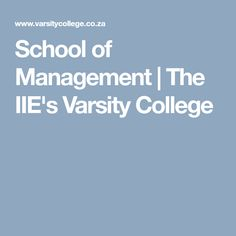School of Management College School, Investing, Management