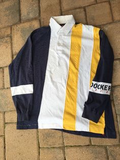 Men's Vintage Dockers Sport Polo Rugby Size L