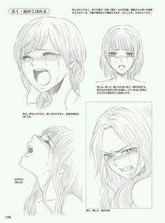 Manga Drawing Ideas Crying girl anime reference how to draw sad angry Cry Drawing, Manga Drawing, Manga Art, Drawing Sketches, Anime Art, Drawings, Girl Crying Drawing, Drawing Reference Poses, Drawing Skills