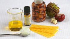 Die heilsame Wirkung der Rosskastanie in einer selbstgemachten Salbe - gegen schwere Beine, Gelenkbeschwerden, Entzündungen und mehr.