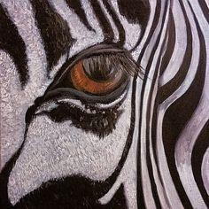 Zebra Art, Eye Painting, Zebras, Art Prints, Wall Art, Blanket, Eyes, Space, Artist