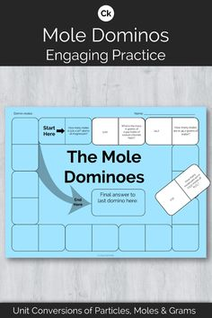 Give your students engaging practice using Avogadro's number and molar mass to practice mole convers Chemistry Worksheets, High School Chemistry, Chemistry Lessons, Teaching Chemistry, Science Chemistry, High School Science, Physical Science, Science Lessons, Earth Science