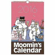 8月上旬入荷予定*【ムーミン】原画カレンダー(乾杯)DM100-08<予約商品>