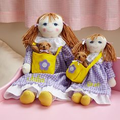 Personalized Big Sister, Little Sister Dolls