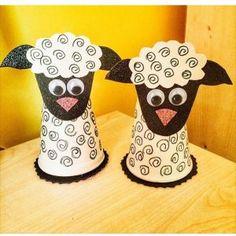 paper cup lamb craft