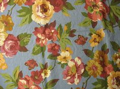 Floral Cotton Upholstery Fabric Canvas Fabric by #TheFabricScore www.thefabricscore.etsy.com  #upholstery #fabric #crafts #diy