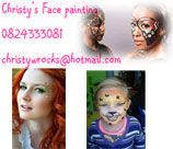 Christy's Face Painting does wonderful Face Painting for all Parties and Themes.