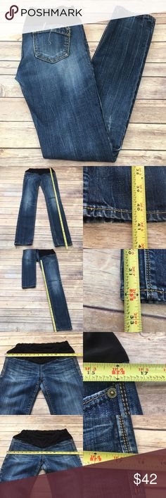 🍂Sz 26 Express Maternity Distressed Skinny Jeans Measurements are in photos. Normal wash wear, no flaws. A3/33 **these were Express Jeans converted into maternity jeans. Material tag is missing they do have a little stretch to them.  I do not comment to my buyers after purchases, due to their privacy. If you would like any reassurance after your purchase that I did receive your order, please feel free to comment on the listing and I will promptly respond.   I ship everyday and I always…