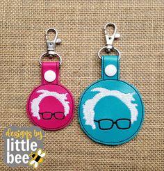 DIGITAL file DOWNLOAD - feel the BERN Bernie Sanders snap tab key. fob democrat? republican? funny embroidery design 4x4. Instant Download!